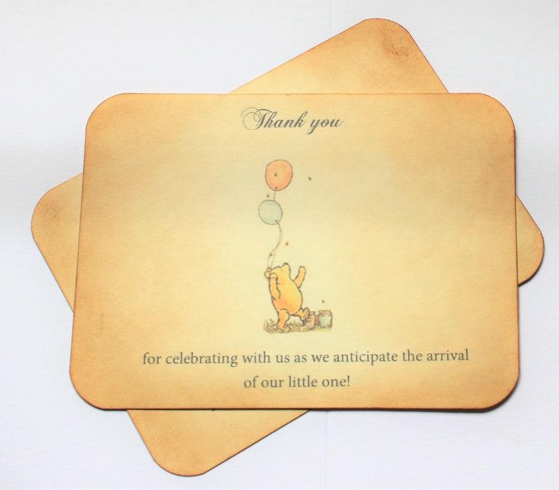 Classic Pooh Flat Postcard Thank You Card