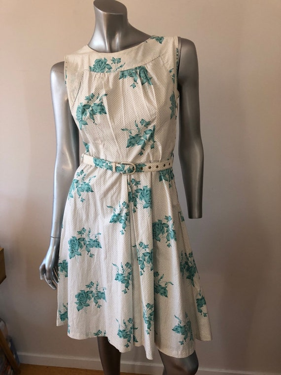 Vintage cotton floral dress