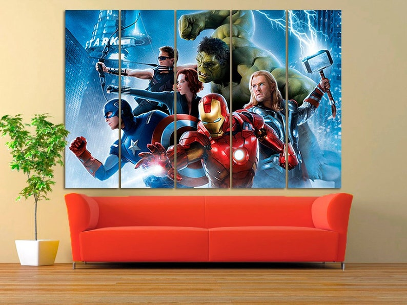 Lego Avengers Thor Kids bedroom canvas picture