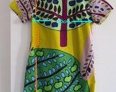 Marimekko rare SADONKORJUU (Harvest) fabric. 100 cotton fabric. Hand made dress 36 S size.