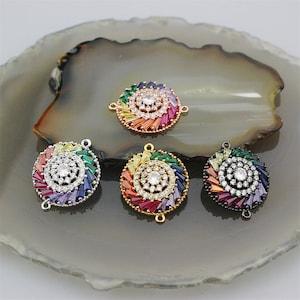 235pcs fashion cz micro pave charm connector,plating cz eye shape charm,handmade diy jewelry accessories