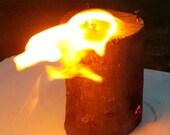 Swedish Canadian Norwegian Candle Fire Log, Outdoor Living Nature Lover Camping Burner, Summer Camp BBQ, Bonfire Torch, Garden fire Torch