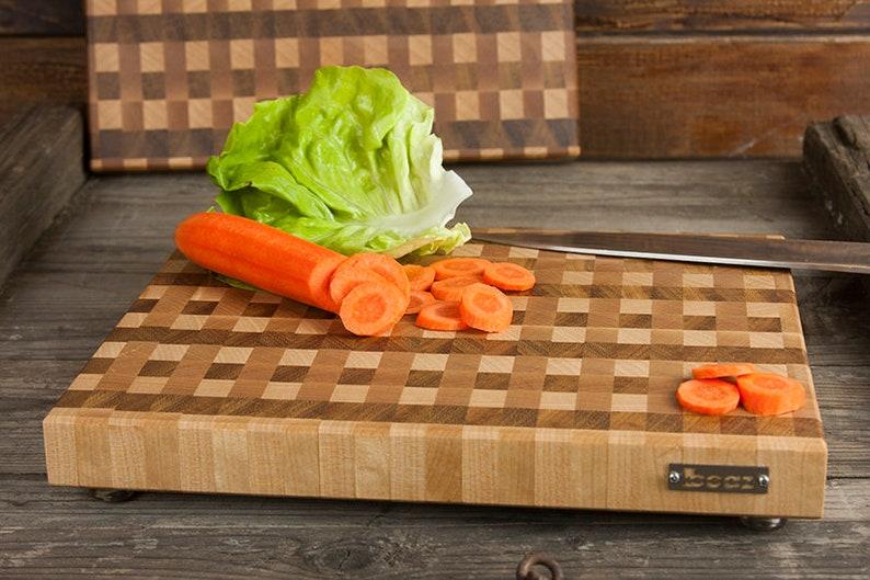 Wood Board Cutting Board Light Brown Solid Wood Serving Board End Grain Cutting board Wood Anniversary Gift Chef Gift Iroko birch maple