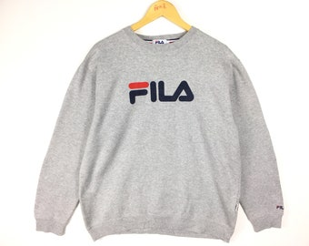 e7566c429e3d Vintage Fila Big Logo Crewneck Sweatshirt Size XL