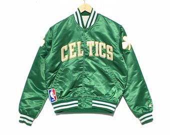 8a3c54d55 Vintage Boston Celtics NBA Starter Satin Bomber Jacket Size XL, 90s Starter,  Vintage Starter, Vintage Jacket, Vintage Clothing