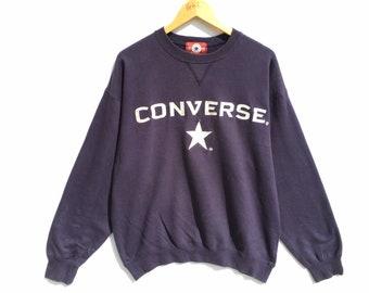 232274ab01fc Vintage Converse Big Logo Sweatshirt Size XL