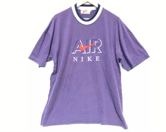 online retailer da8d4 13dad Vintage Nike Air Shirt Made In USA Size Large, Vintage Shirt, Vintage  Clothing, 90s Nike