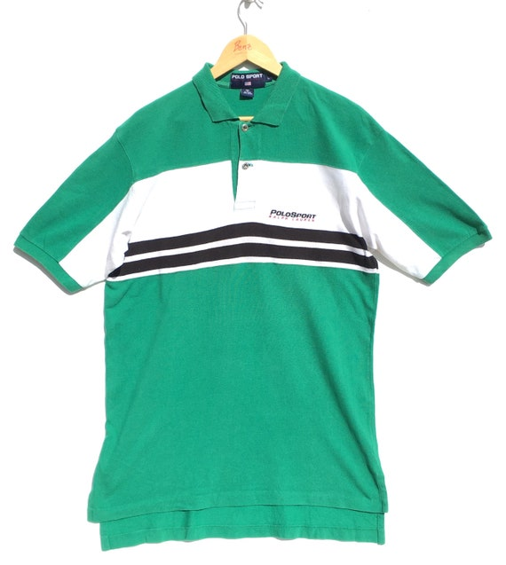 Vintage Polo Sport By Polo Ralph Lauren Striped Po