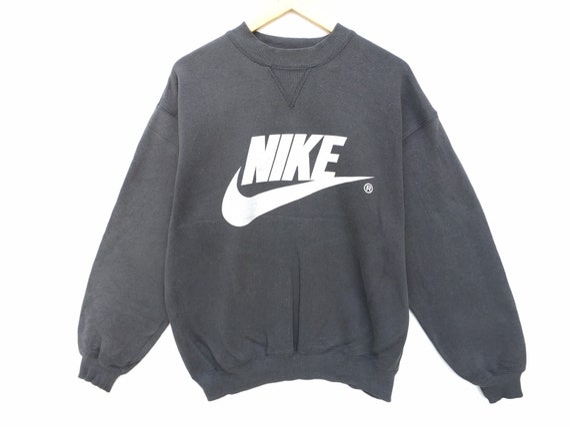 Vintage Nike Sweatshirt Black Size Large, 90s Nike