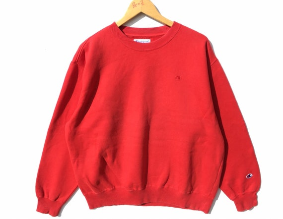 Champion Sweatshirt Red Size XL, Champion Sweatshi