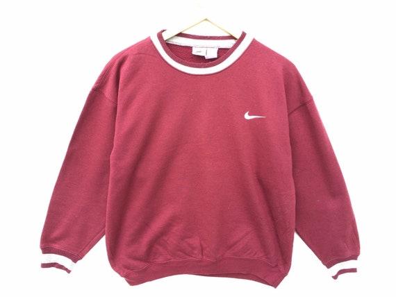 Vintage Nike Sweatshirt Maroon Red Size Medium, 90