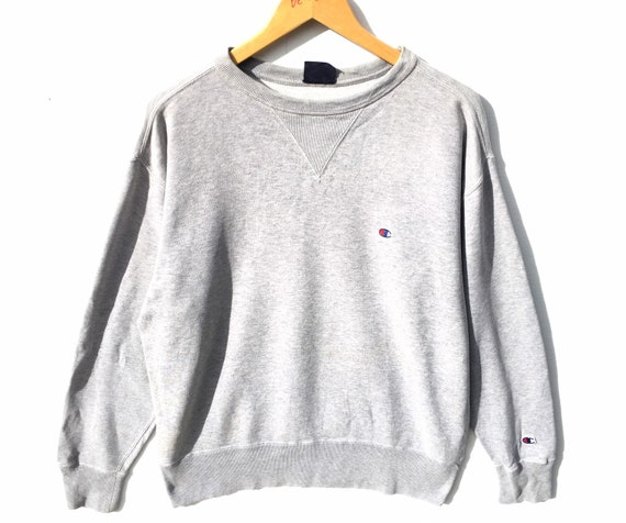 Vintage Champion Sweatshirt Grey Size Large, Vinta