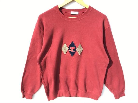 Vintage Courreges Paris Sweatshirt Maroon Size Lar