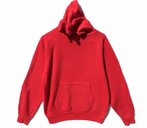 90s Healthknit Red Hoodie Size Large, Vintage Hood