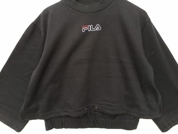 Vintaga Fila Sweatshirt Black Size Medium, Fila J… - image 2