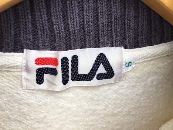 Fila Vintage Sweatshirt Half Zipper Size Small, V… - image 3