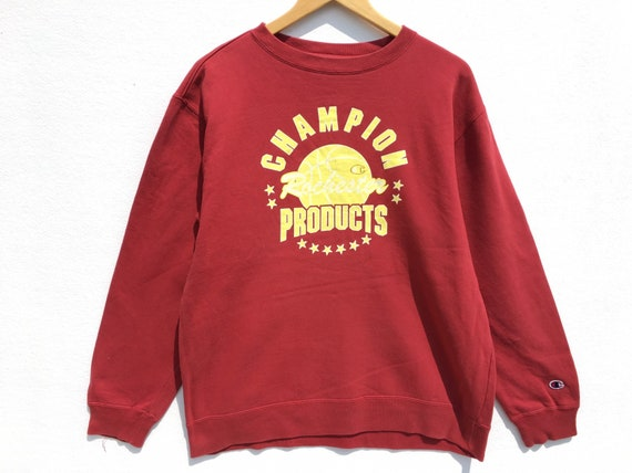 Champion Sweatshirt Red Size Large, Champion Swea… - image 1