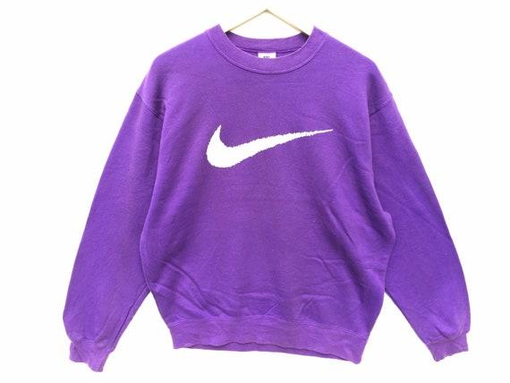 90s Nike Sweatshirt Purple Size Large, 90s Nike, N