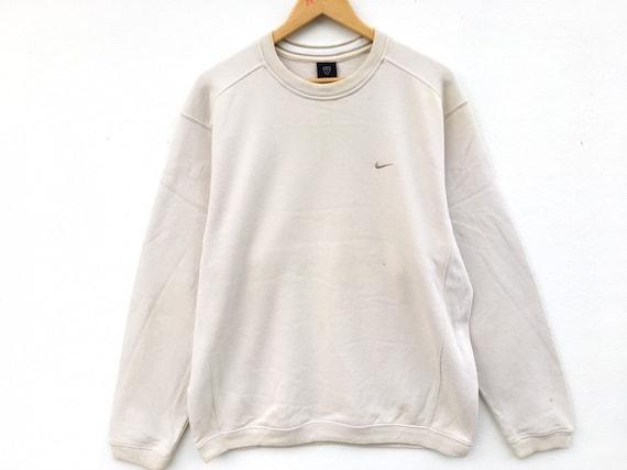Nike Sweatshirt Cream Beige Size Large, Cream Nike