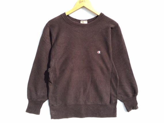 80s Champion Reverse Weave  Brown Sweatshirt Size