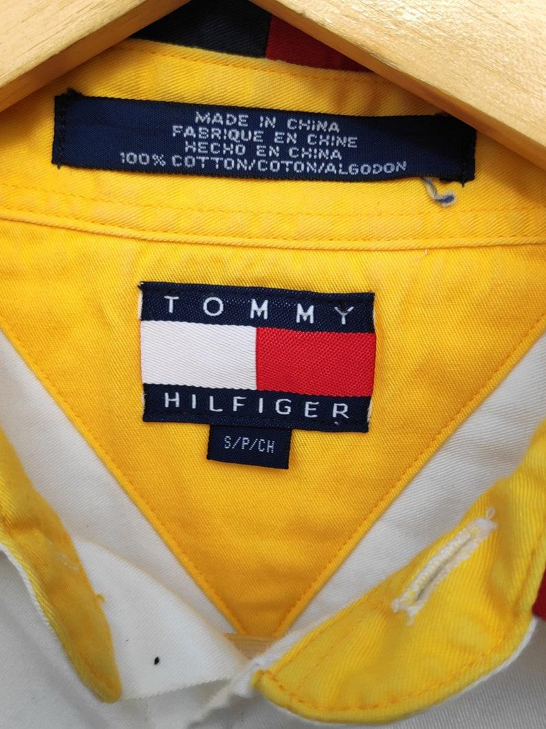Vintage Shirt 90s Clothing Vintage Tommy Hilfiger Big Flag Logo Oxford 90s Fashion Vintage Clothing