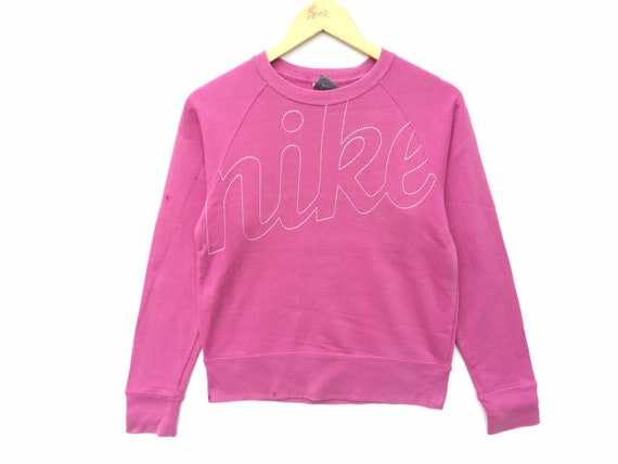 Vintage Nike Sweatshirt Pink Size Medium, 90s Nike