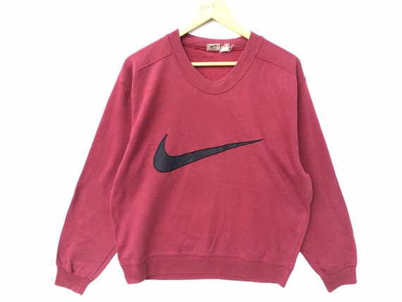 Vintage Nike Sweatshirt Maroon Red Size Large, 90s