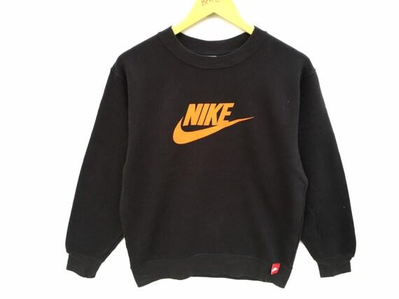 Vintage Nike Sweatshirt Big Logo Black Size Medium