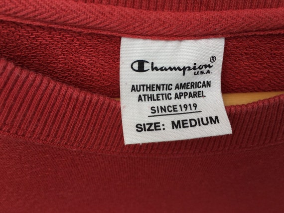 Red Champion Vintage Sweatshirt Size Medium, Red … - image 3