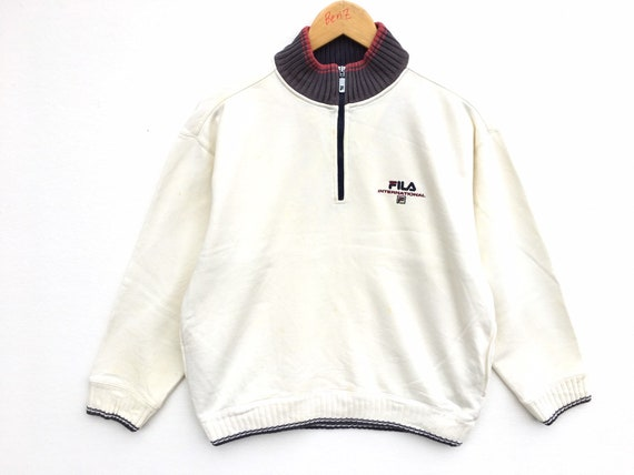 Fila Vintage Sweatshirt Half Zipper Size Small, Vi