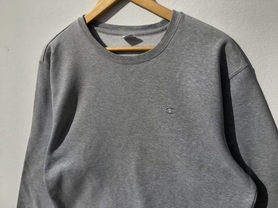 Champion Grey Sweatshirt Size Large, Vintage Swea… - image 3