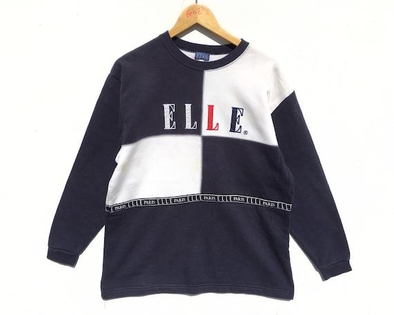 Elle Colorblock Sweatshirt Size Large, Vintage Ell