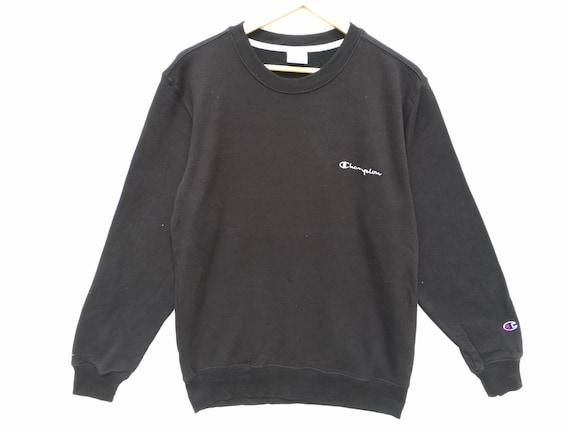 Black Champion Sweatshirt Size XL, Small Script Ch