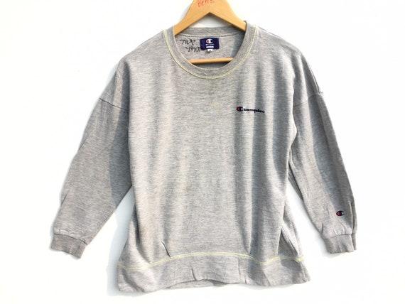 Vintage Champion Sweatshirt Grey Size Medium, Vint