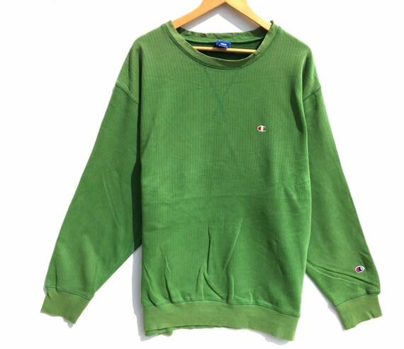 Champion Crewneck Sweatshirt Green Size XXXL, Cham