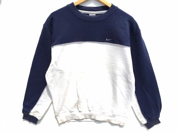 Vintage Nike Sweatshirt Two Tone Size Large, 90s N
