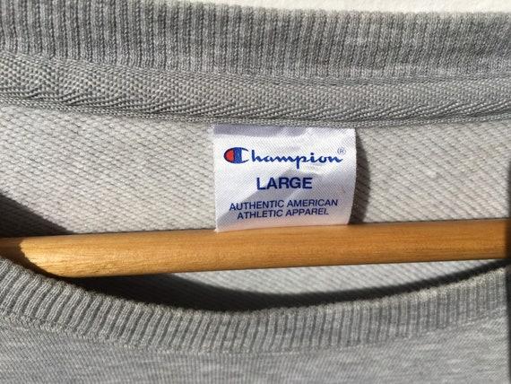 Champion Grey Sweatshirt Size Large, Vintage Swea… - image 2