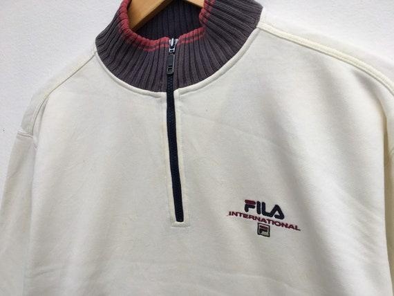 Fila Vintage Sweatshirt Half Zipper Size Small, V… - image 2
