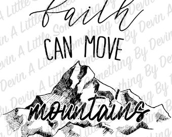 faith can move etsy Hats Man of Faith faith can move mountainssublimation transfer