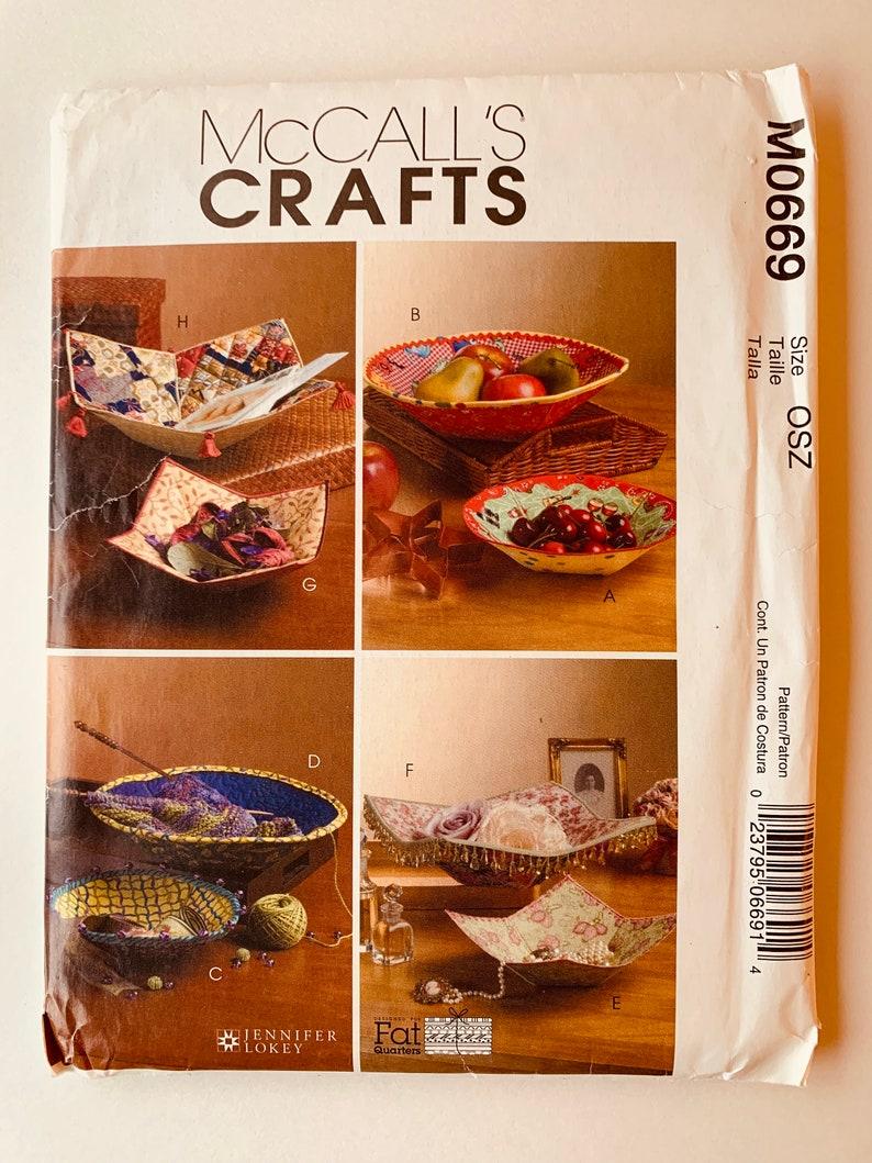Fabric Bowls Pattern McCall\u2019s Crafts M0669