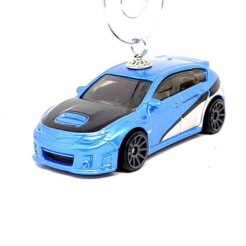 Subaru Impreza STI Blue Custom Christmas Ornament 1:64 Scale