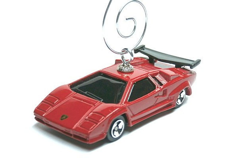 Lamborghini Countach Car Ornament / Red Lambo / Christmas Tree Ornament /  Decor / Gifts For / Ornament Hook Included, MyCarFetish