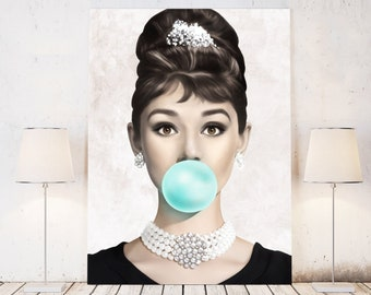 6b4a674a2bfc Audrey Hepburn Bubble Gum Artwork Poster