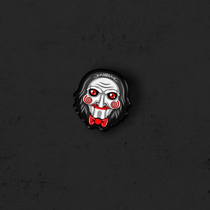 Billy Puppet pin Saw Film Horror Creapy brooch Jigsaw   Etsy