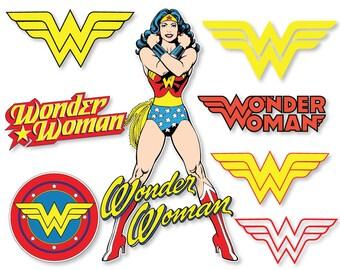 Wonder woman clipart | Etsy