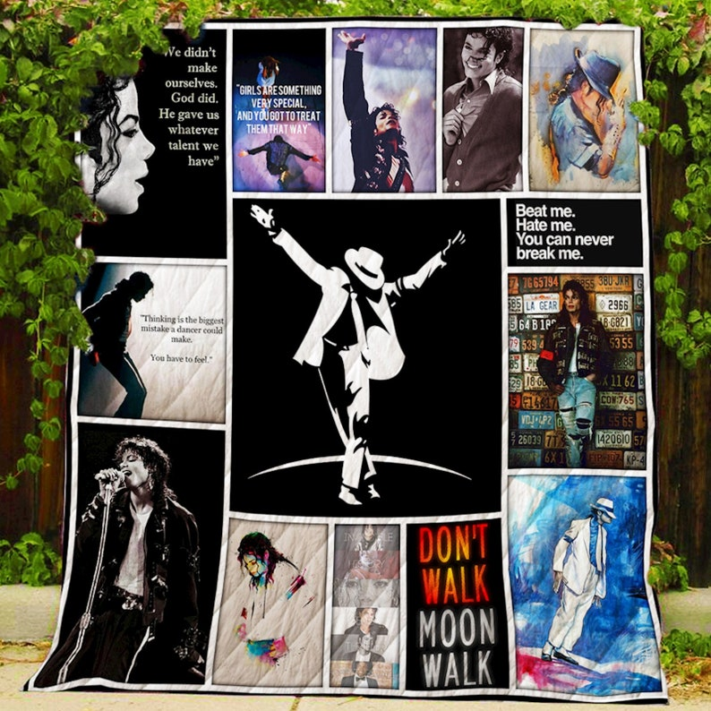 Decorative items Bedroom Michael Jackson Modern Quilt Patterns Blanket Quilted Sofa Blanket for birthday Graduation Noel-Quilt Sale Now