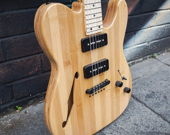 Lindo Bamboo Defender Semi-Hollow Body Electric Guitar | Eco Freindly | Sustainable | Ethical