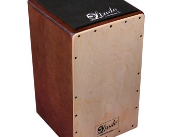 Lindo Platanus Hispanica and Birch Wood Spanish Cajon Drum Adjustable V-Snare - Handcrafted in Spain