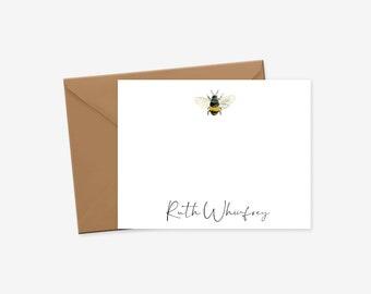thank you hello stationery stationary Bee Happy bee themed notecards