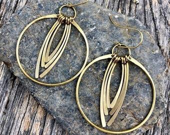 f09207b9420b2 Gold fringe earrings | Etsy